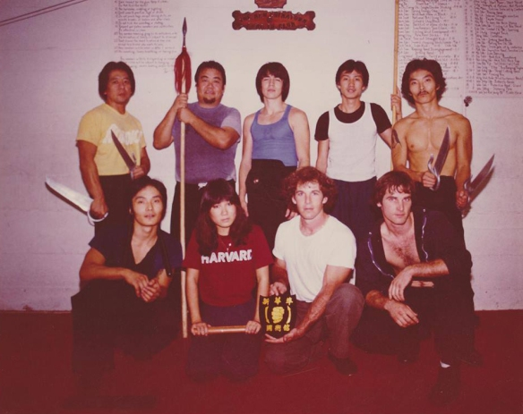 Art Ishii (second row, left) with the New Chinatown Gung-Fu Club, under the direction of Randy Williams Sifu (second row, center), early 1980s. Photo courtesy of Pete Farino.