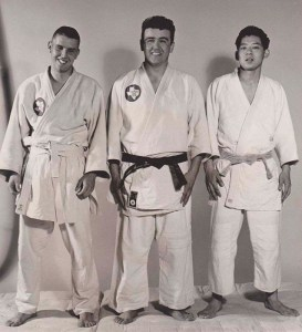 Art Ishii (right) with Sheppard Air Force Base Judo Club teammates, early 1960s. Photo courtesy of Art Ishii