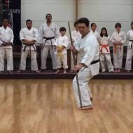 Erik Matsunaga of Ravenswood Dojo demonstrates a bo kata.