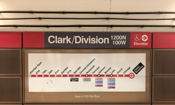 Clark Division Subway Sign